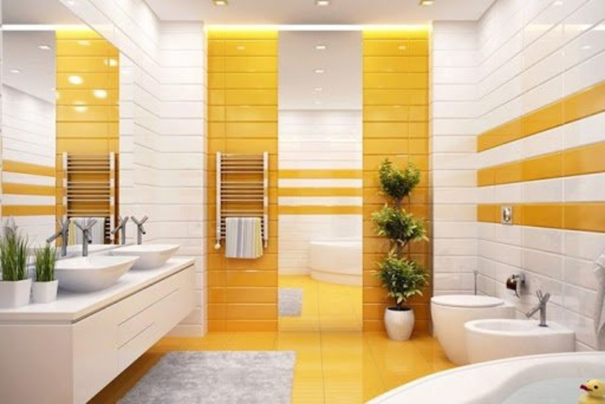 Yang energy should be present in the bathroom of a Leo. But don't go with red and orange as this subtracts the water energy necessary for a bathroom.
