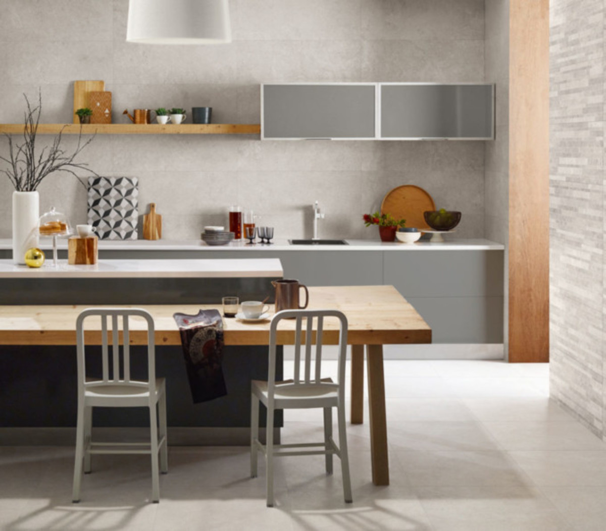 Silver is an excellent color to use in the Virgo kitchen.