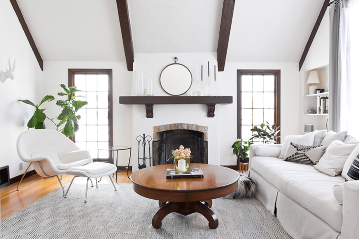 When in doubt in a Virgo house, opt for white. Rounded pieces are preferred over square ones.