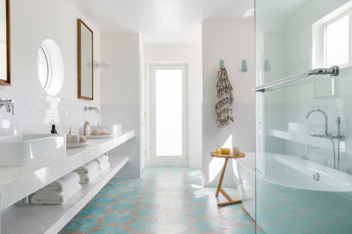 The bathroom should be clean, spotless, and with few objects out on counters or elsewhere. Neutral colors are Virgo's best friend.