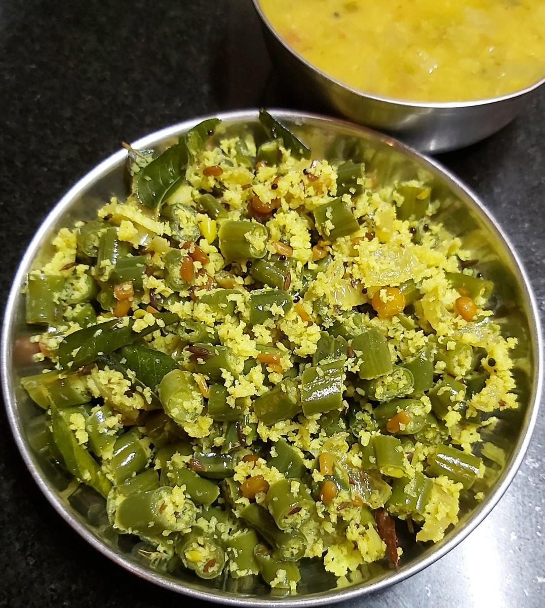 Healthy Beans Poriyal Recipe