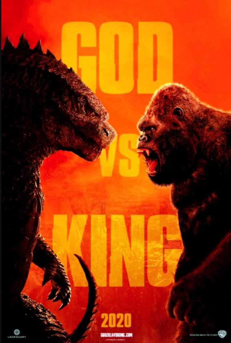 "The teaser poster for, ""Godzilla vs Kong."""