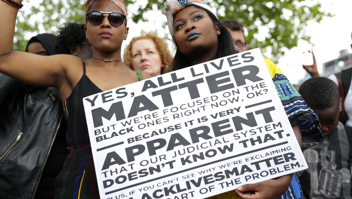 Why we shouldn't be saying All Lives Matter