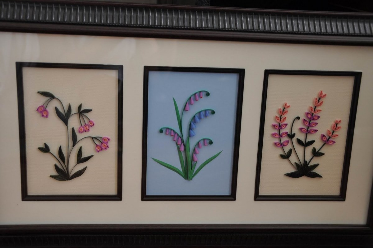 Adding a frame for your quilled projects make them elegant in your home decor