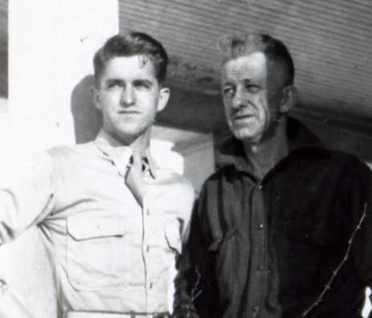 World War II -- My Uncle Lionel with his Dad