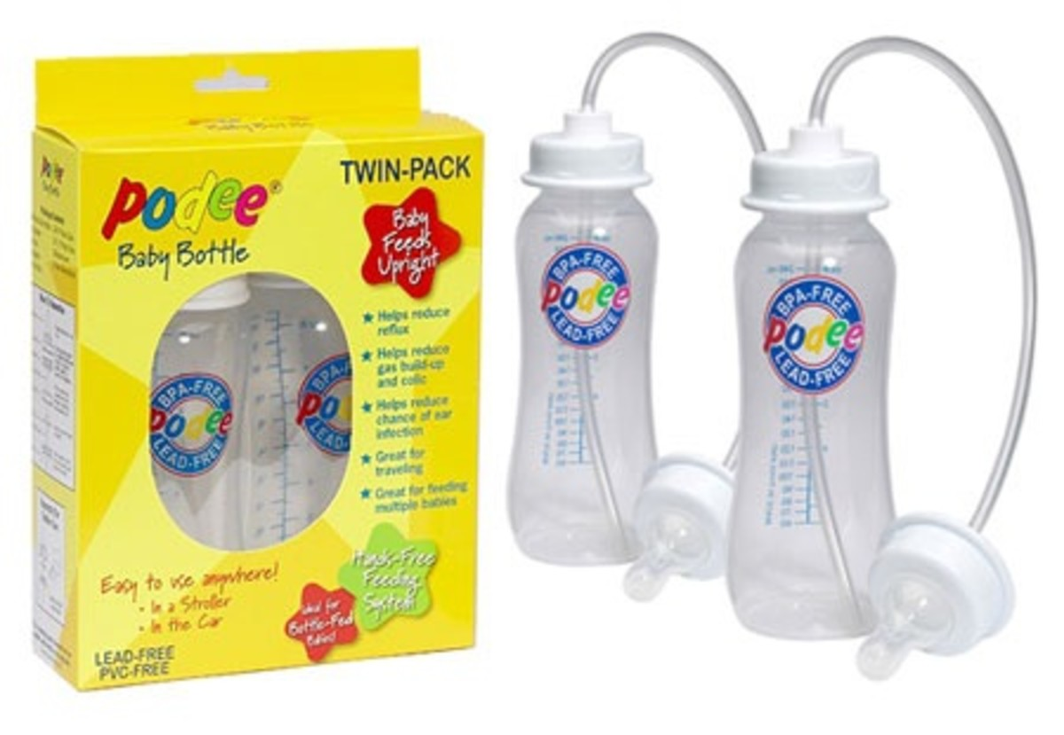 Podee Baby Bottle Feeding System - Hands-Free Feeder for Infant Babies