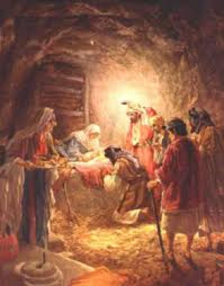 The story of Jesus begins here for some, but why be born if you are celestial, why not just be?