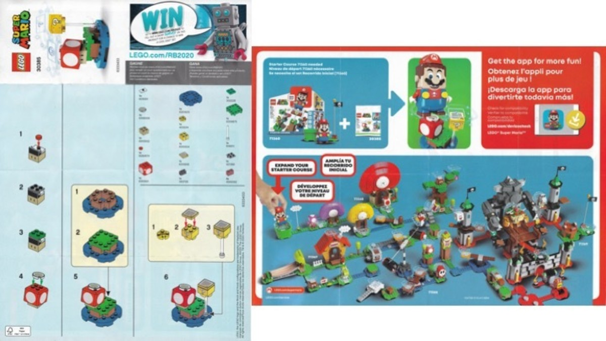 LEGO Super Mario Super Mushroom Surprise 30385 Instructions