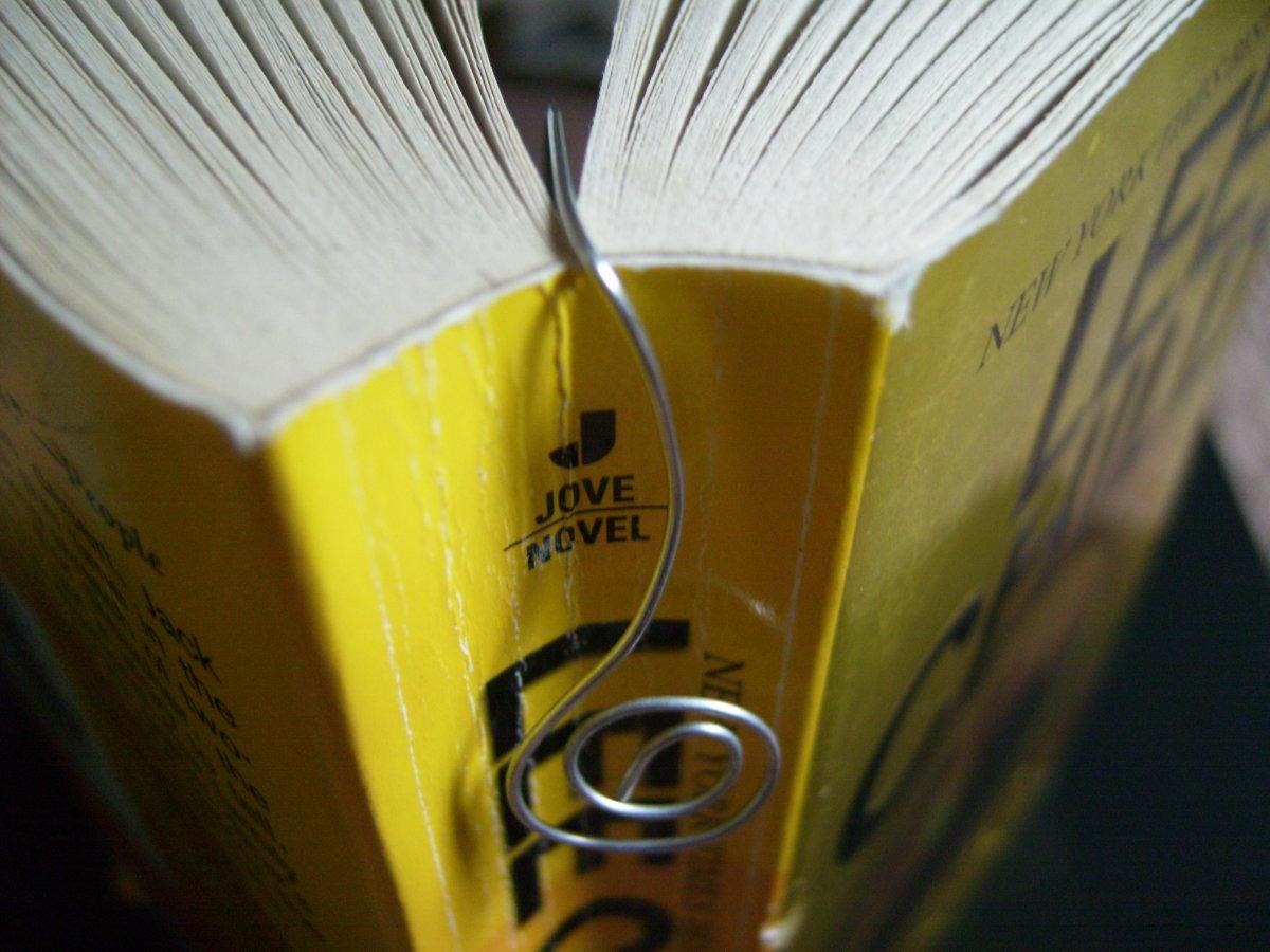 Wire Bookmark in a Book