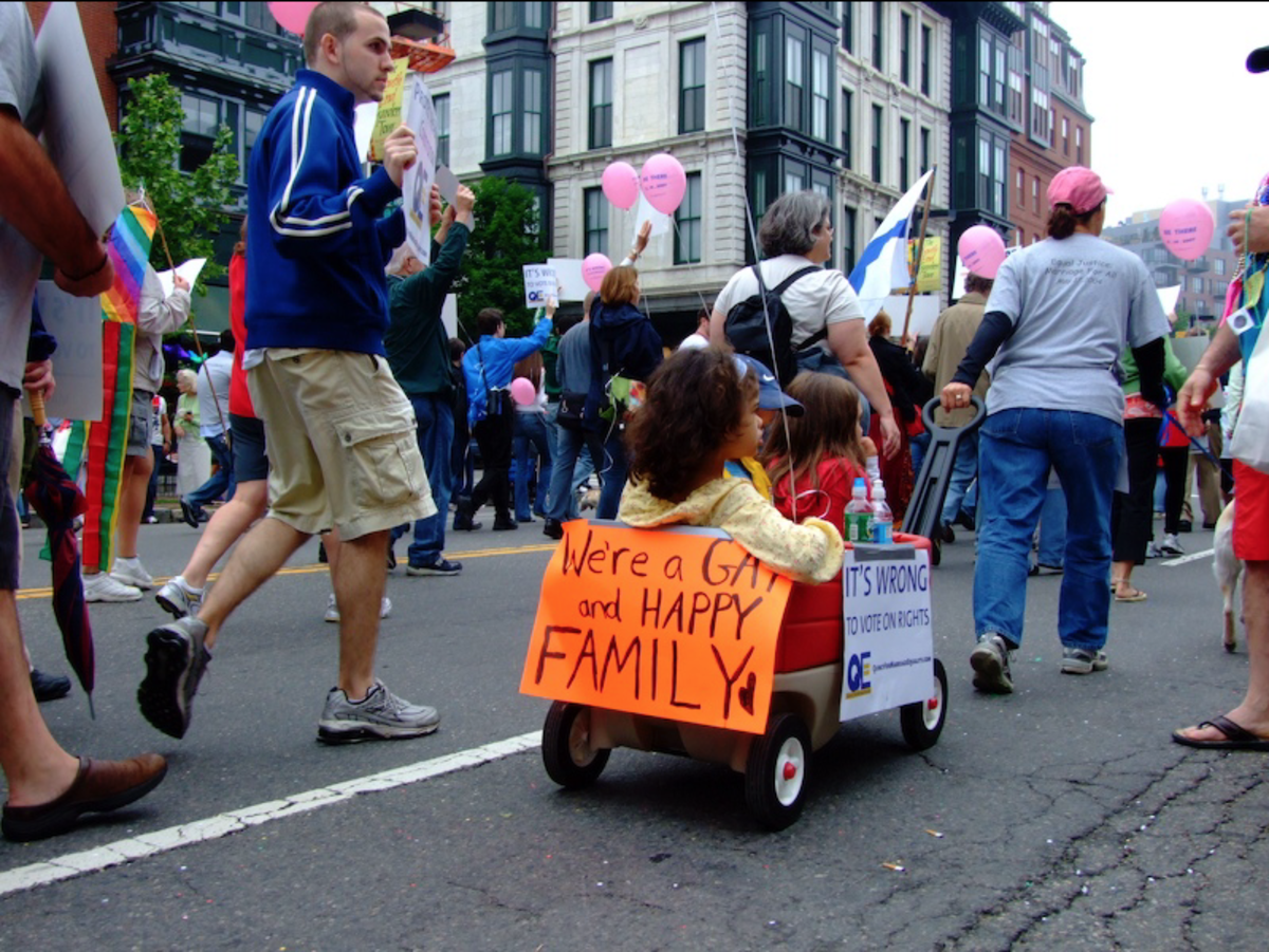 A 2007 LGBT pride parade in Boston, Massachusetts.