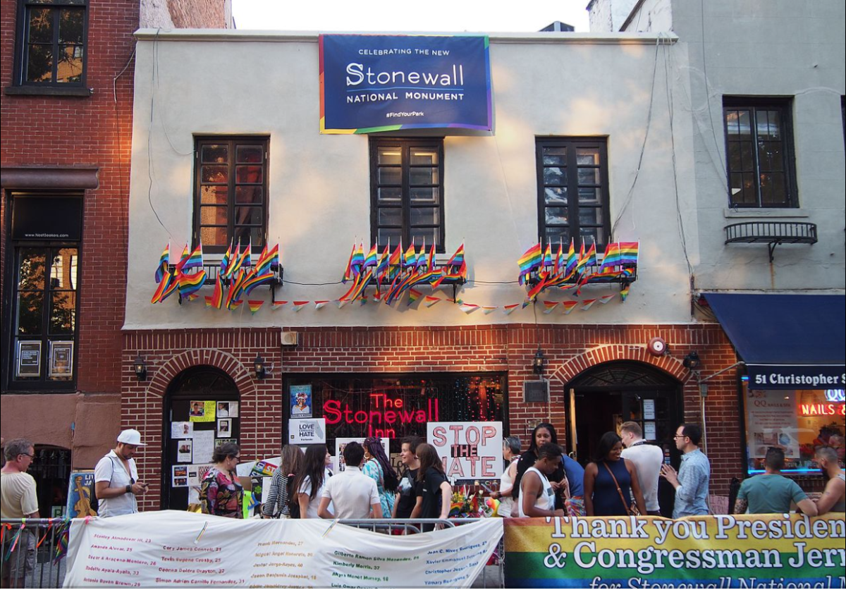 Pride weekend 2016, the day after President Obama announced the Stonewall National Monument.  The Stonewall Inn was a gay bar located on Christopher Street in Manhattan's Greenwich Village.  A June 28, 1968, police raid of the bar led to rioting.