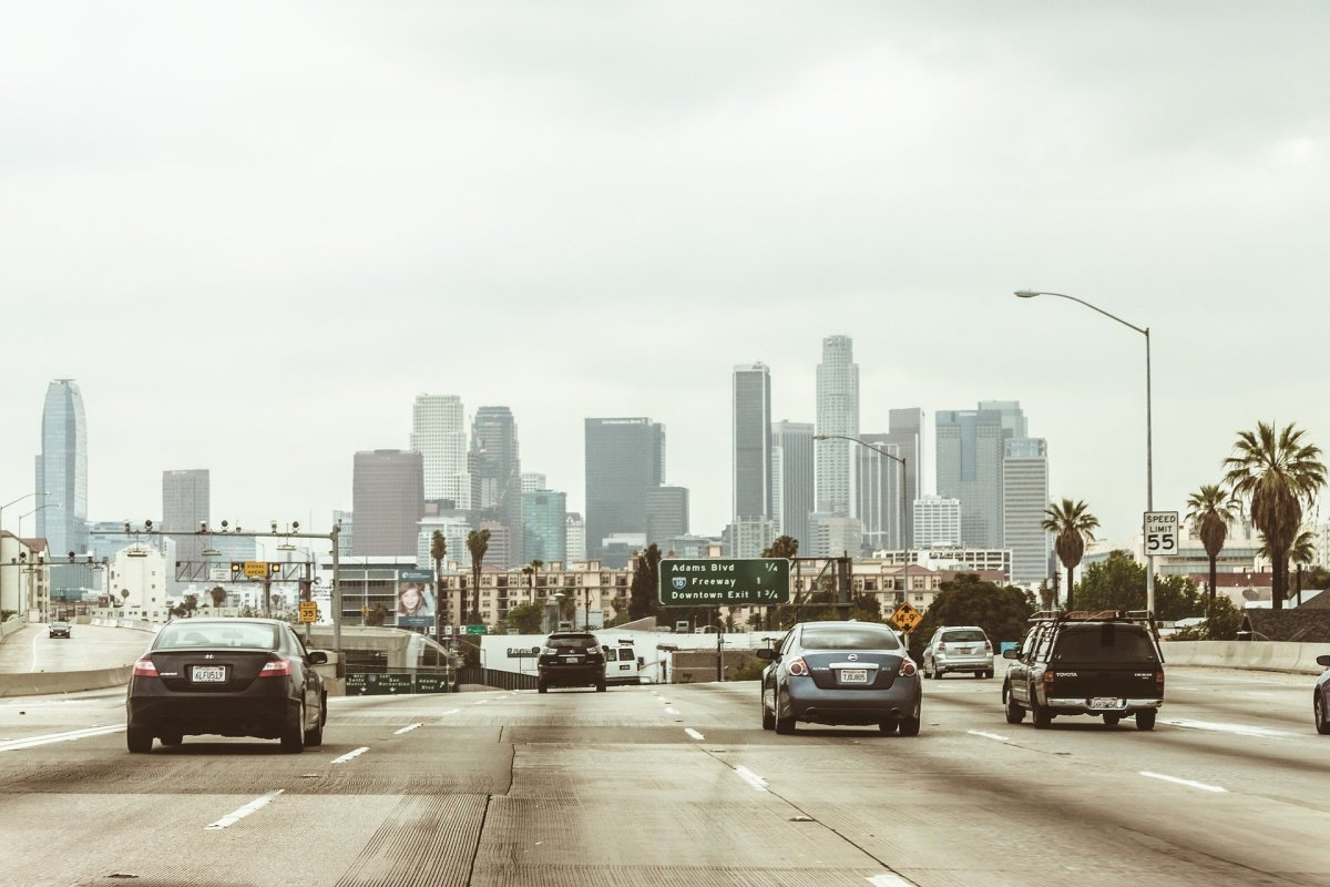 Here is a look at a freeway in Los Angeles.
