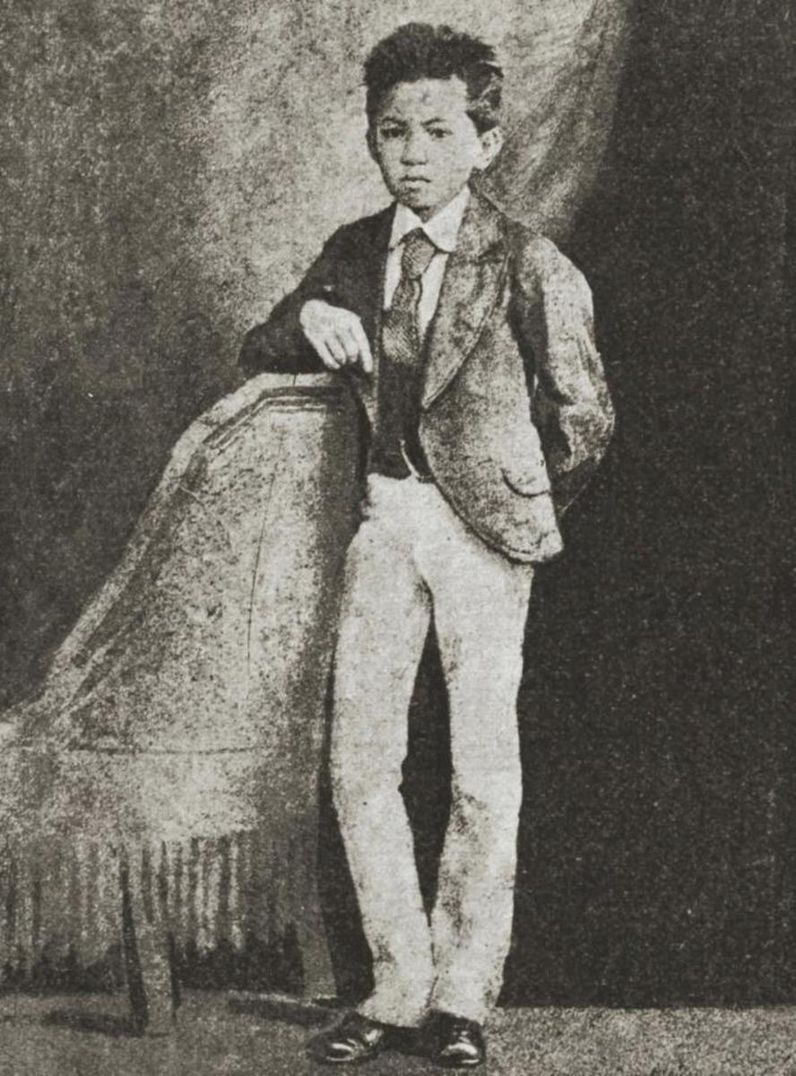 The young Rizal.