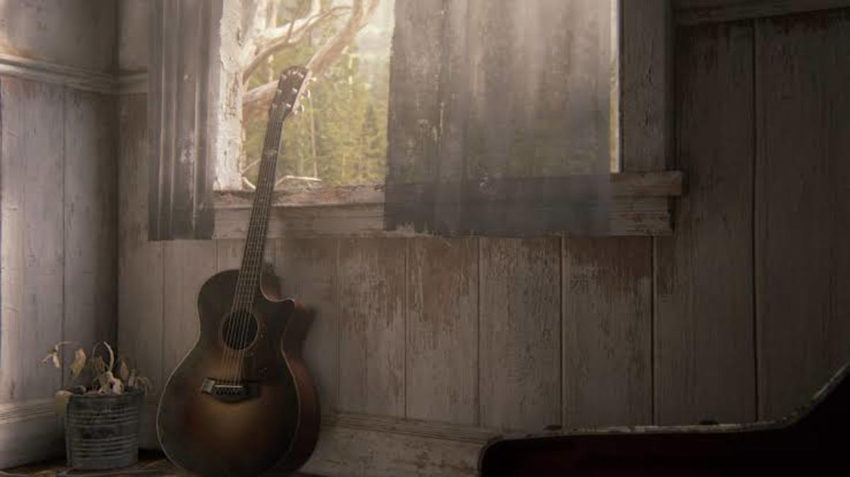 TLOU Part 2 Ending Shot with the Guitar