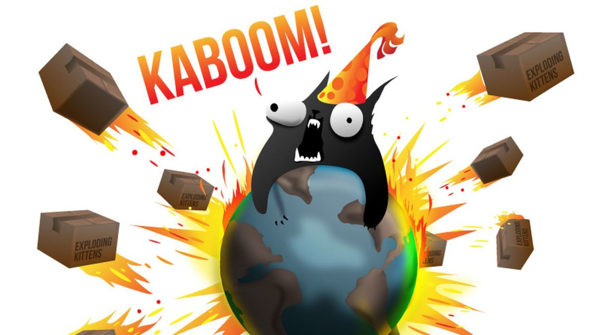 An exploding kitten card