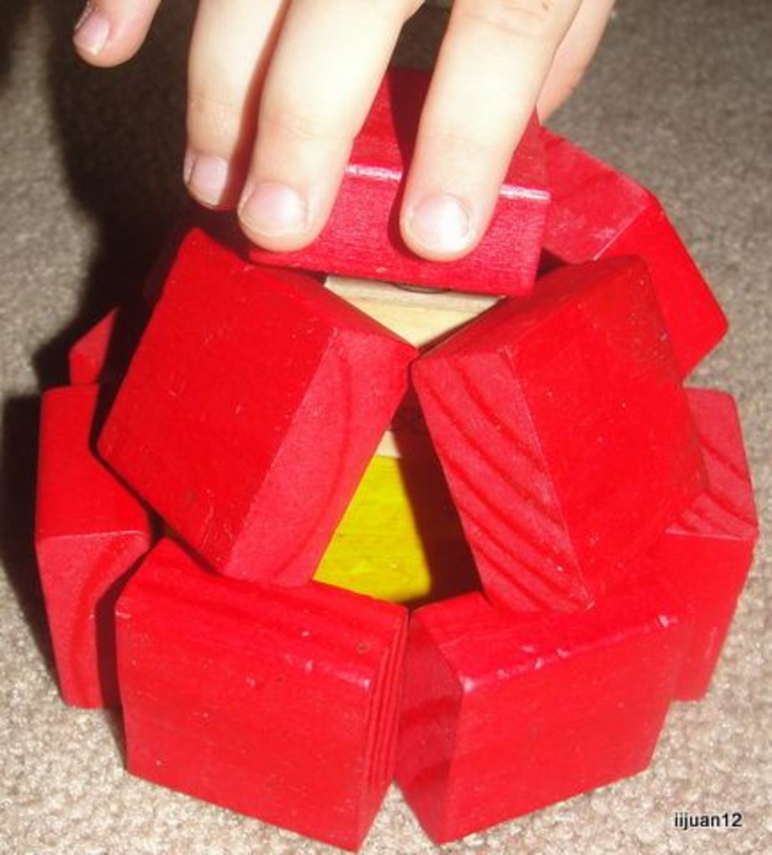 Using blocks to build a dome
