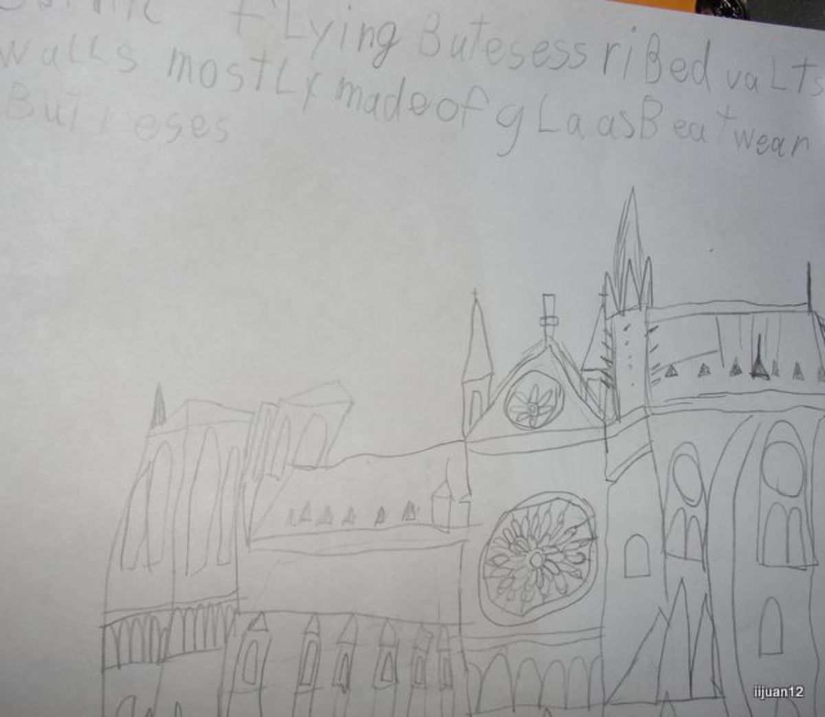 Sketching the Notre Dame Cathedral