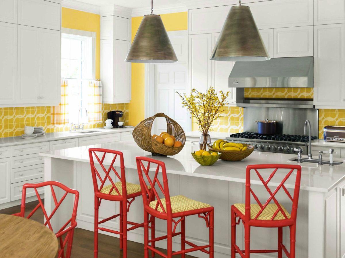 Shades of yellow look great in a Sagittarius kitchen.