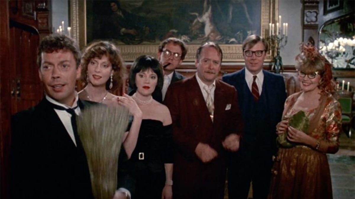 The film's campy comedy and unusual set-up makes this both a curiosity and a parody of many a murder mystery.
