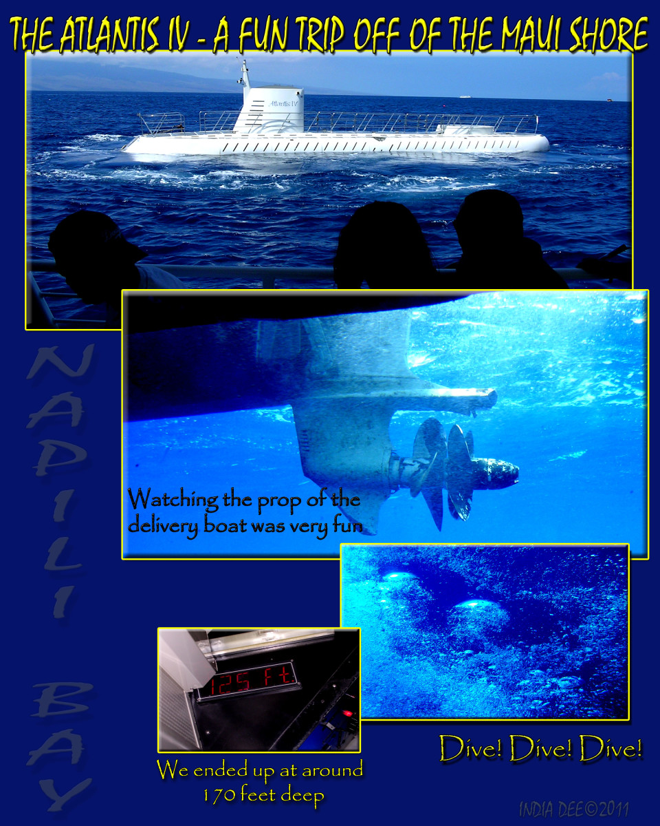The Atlantis tour was exciting and the underwater reality was new to us.