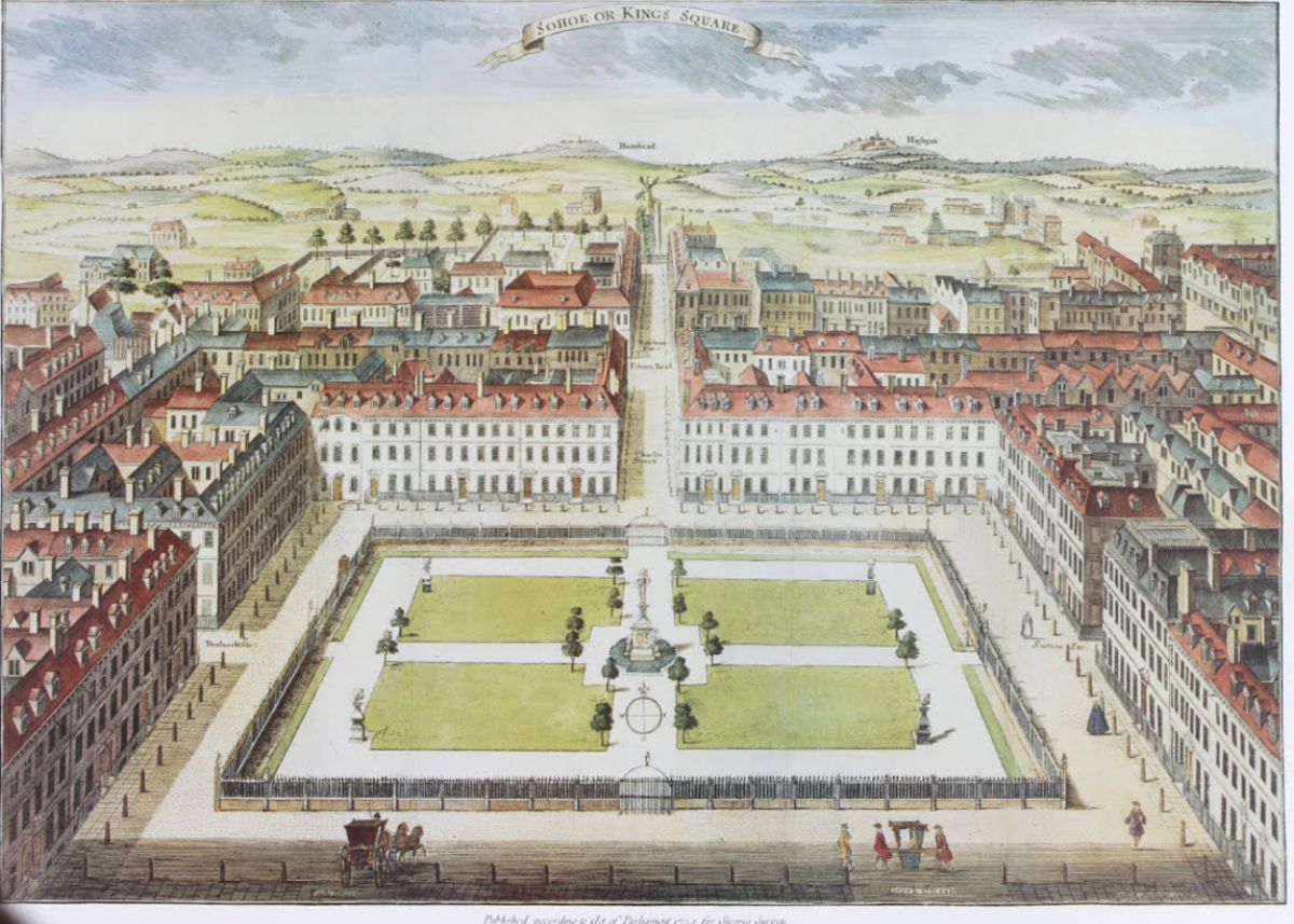 Soho Square, circa 1730 Taken from: The Wager Disaster:  By C.H. Layman