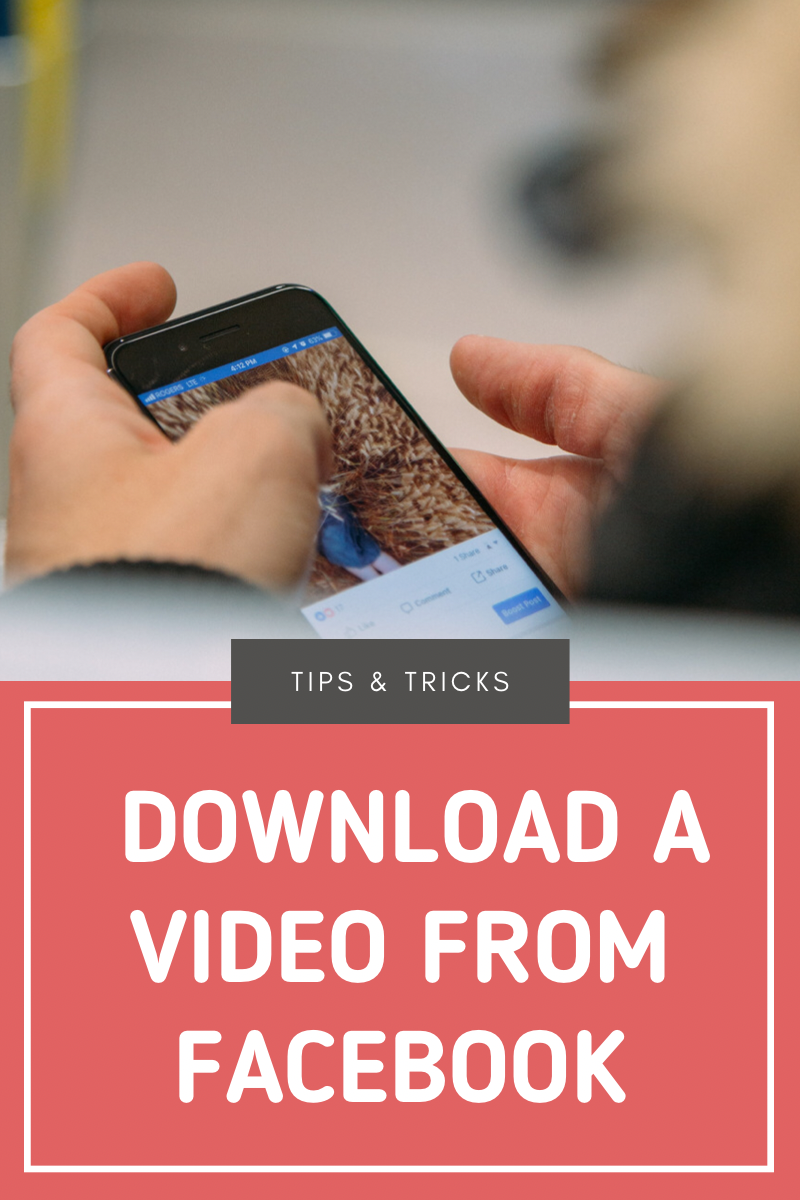 Download and save a video from Facebook to your phone or computer.