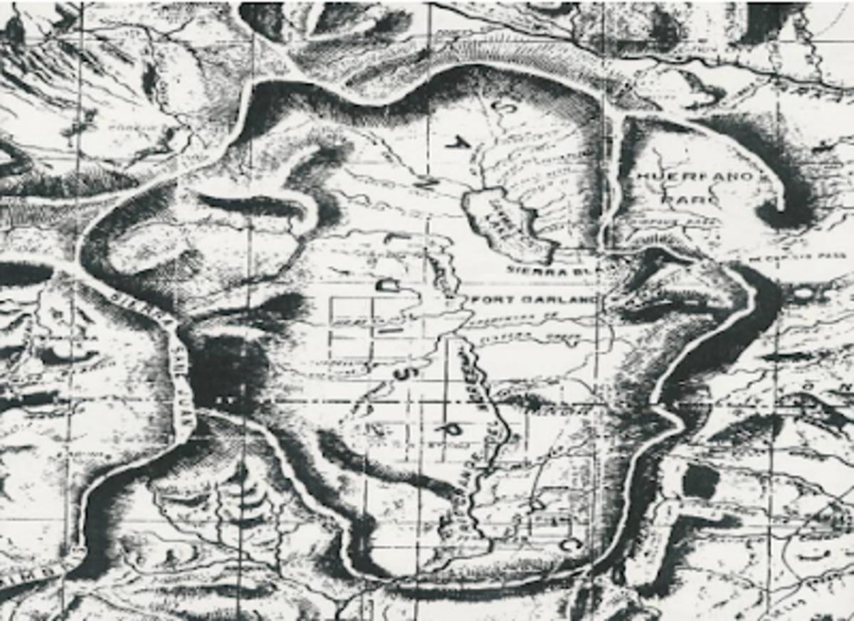 The Boundaries of Colorado Territory 1869
