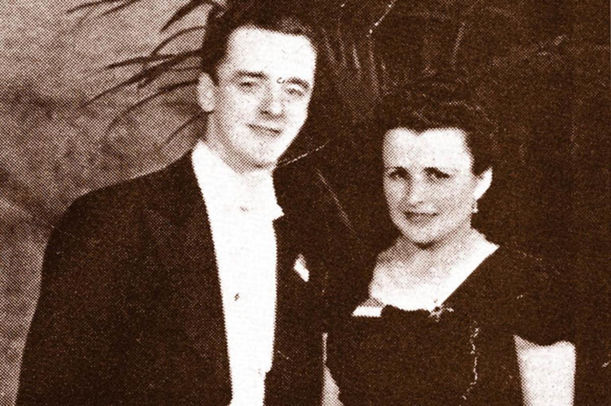 Joseph-Albert Guay with his wife Rita Morel.