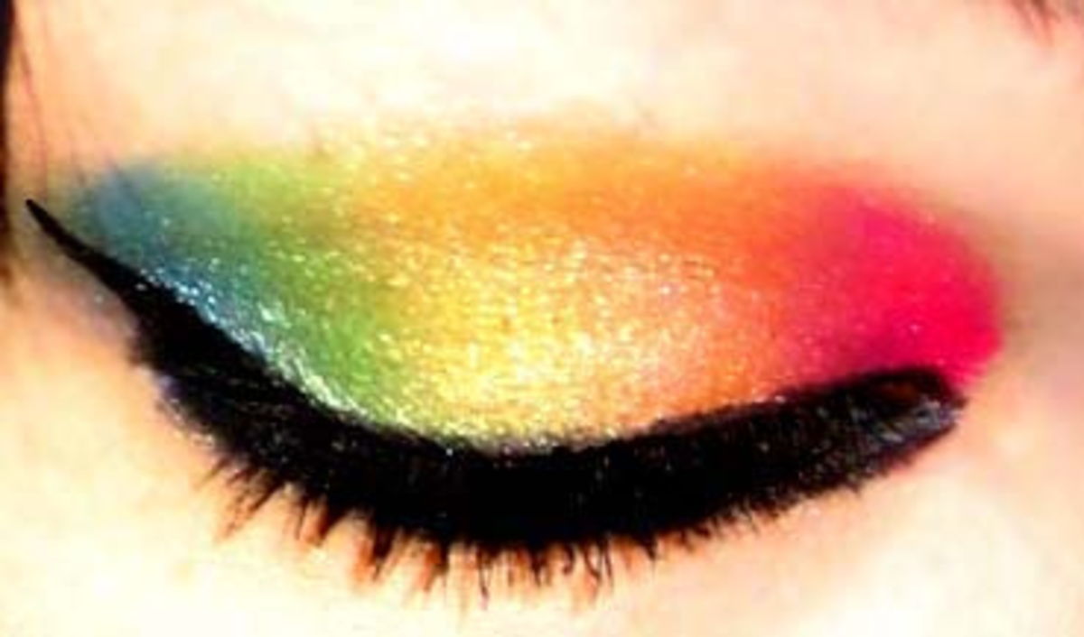 How to do rainbow style eyeshadow
