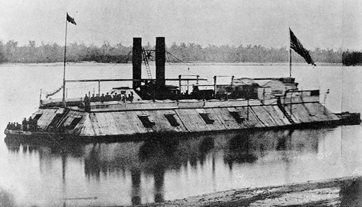 Union ironclad USS Carondelet (1861) circa 1862, U.S. Naval Historical Center