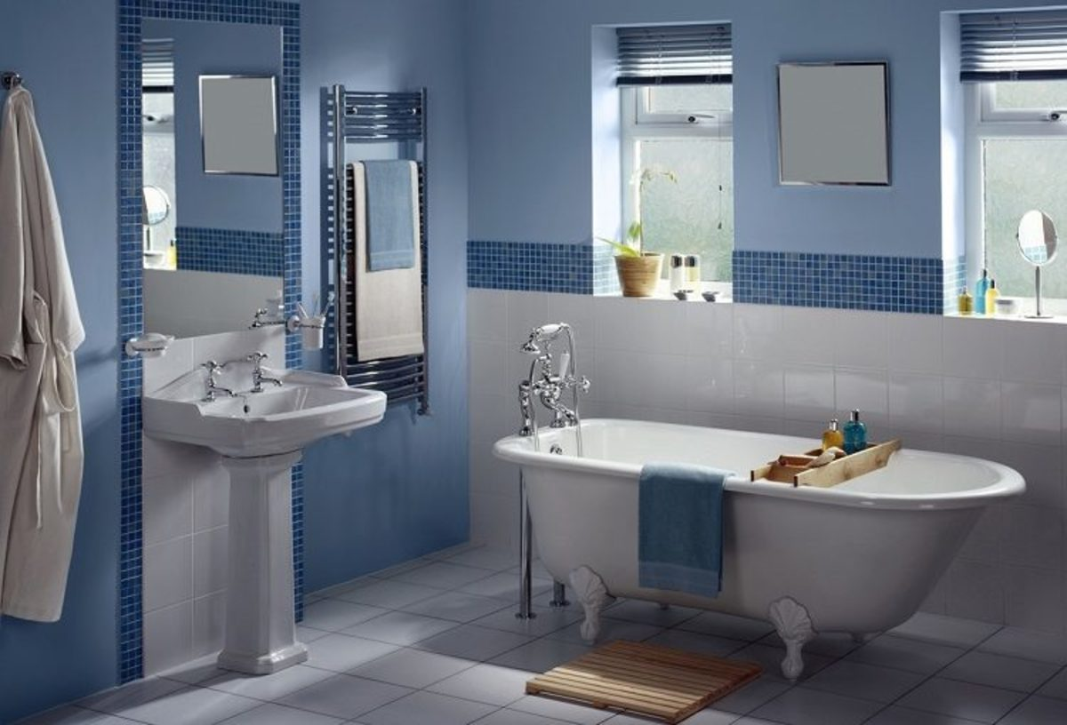 Water Feng Shui uses blue and gray and rounded objects.