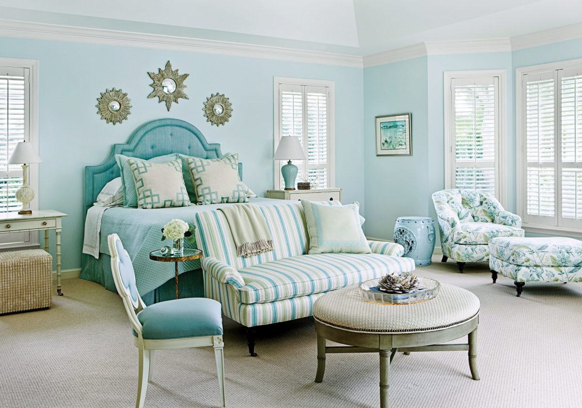 Water feng shui tip: go for lighter blues in the bedroom. Deeper hues will suck out your energy.