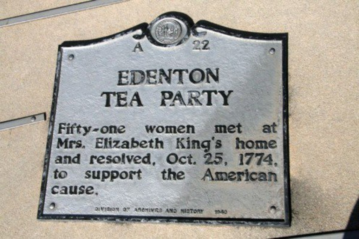 American Revolutionary War: Plaque Commemorating the Edenton Tea Party