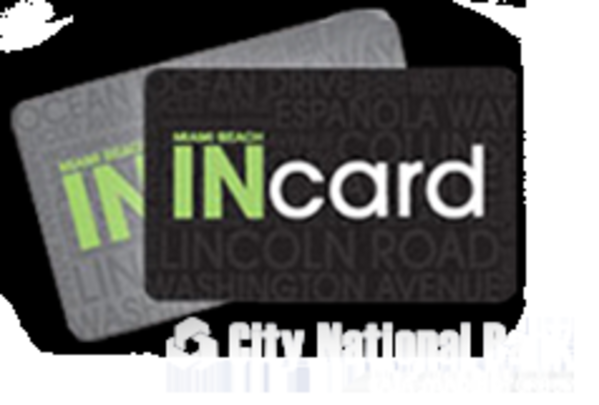 Miami Beach INcard is a great card for both residents and visitors to get discounts and offers at local restaurants, hotels, attractions and more. Pick up an INcard from 1901 Convention Center Drive inside Hall C, Miami Beach, 10 am - 4 pm, 7 days a