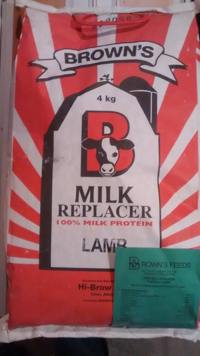 A Bag of Browns Lamb Milk Replacer