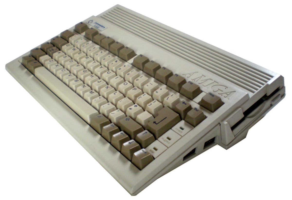 An Amiga 600 - note the missing numerical keypad