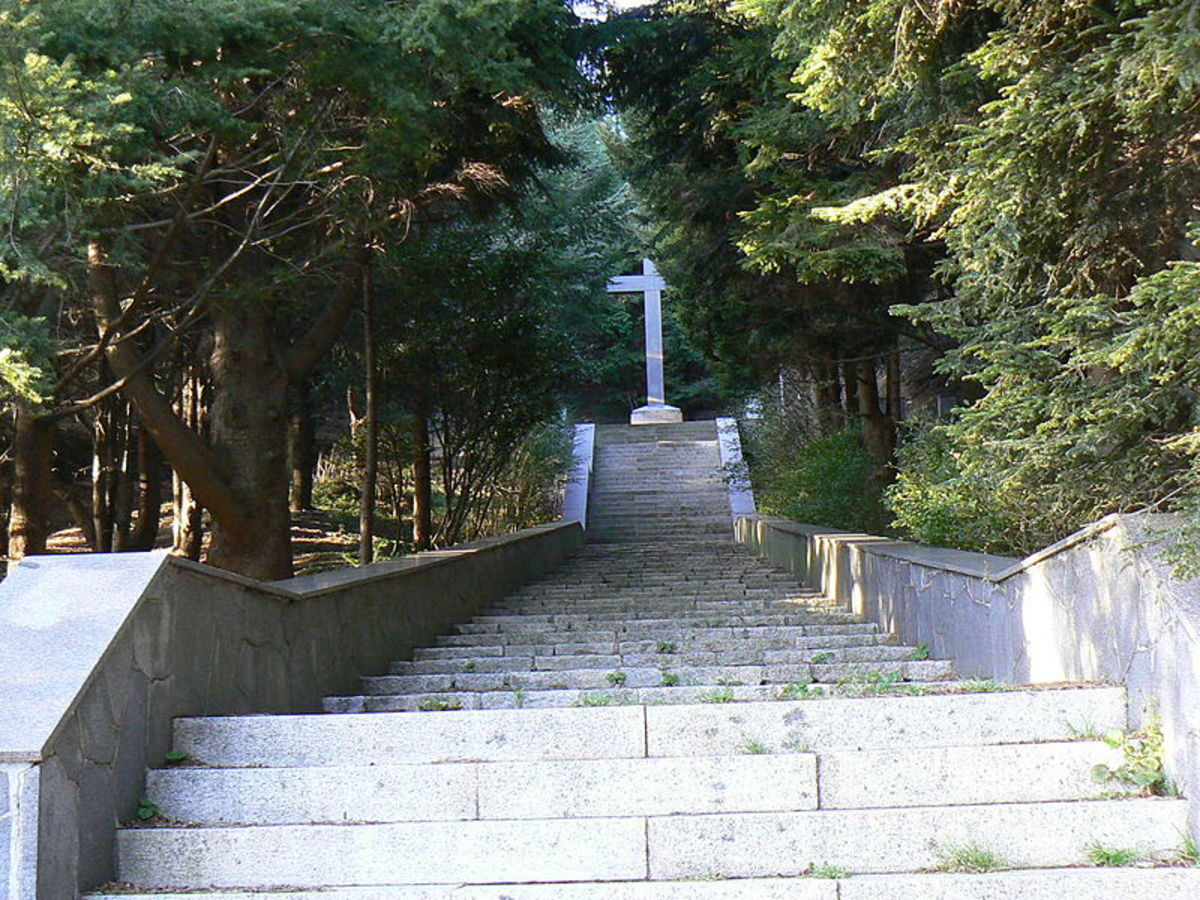 Martyrs Shrine of the Turchino Pass, the location of the massacre 59 Italian civilians, who were executed as ordered by Friedrich Engel
