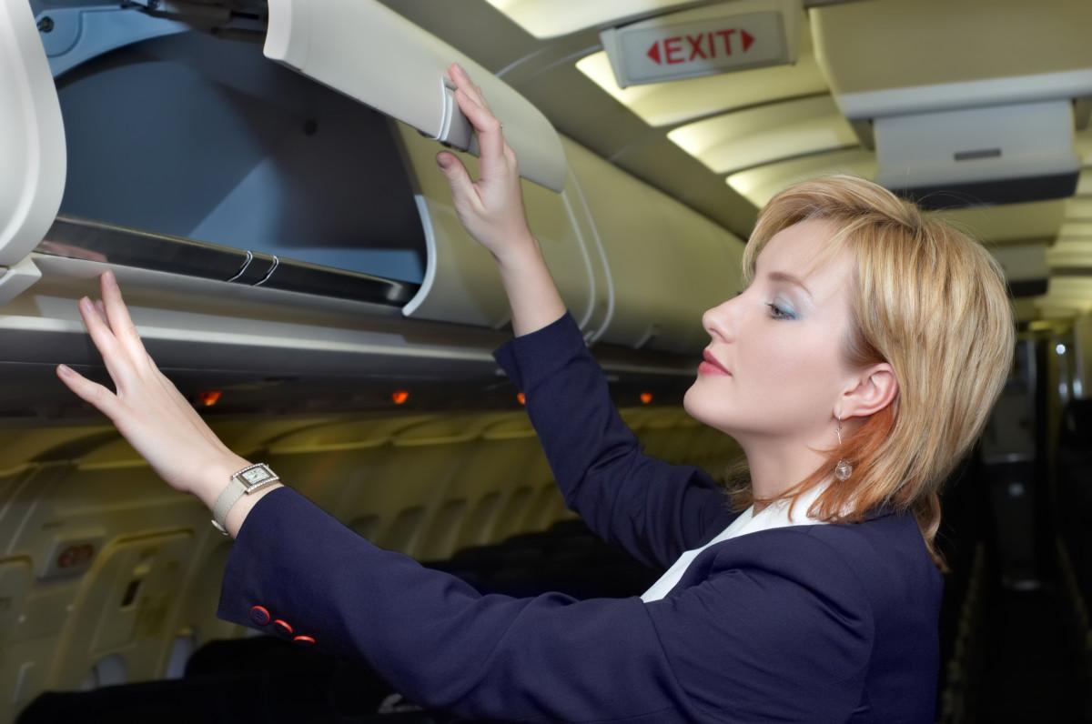 Air Stewardess or Cabin Crew courtesy of public domain