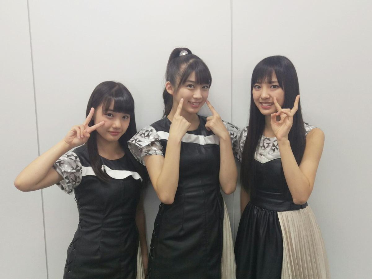 From left to right: Reina Yokoyama, Maria Makino, and Haruna Iikubo.