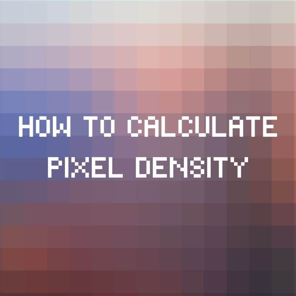 How to calculate a display pixel's density