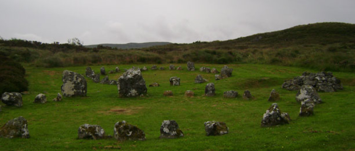 Beaghmor Circle in N. Ireland.  Celtic ruins.
