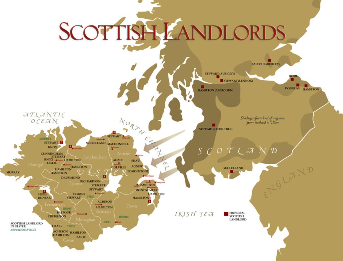 Scottish Plantations in N. Ireland.