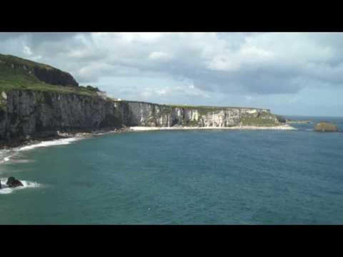 The rugged N. Ireland coast.