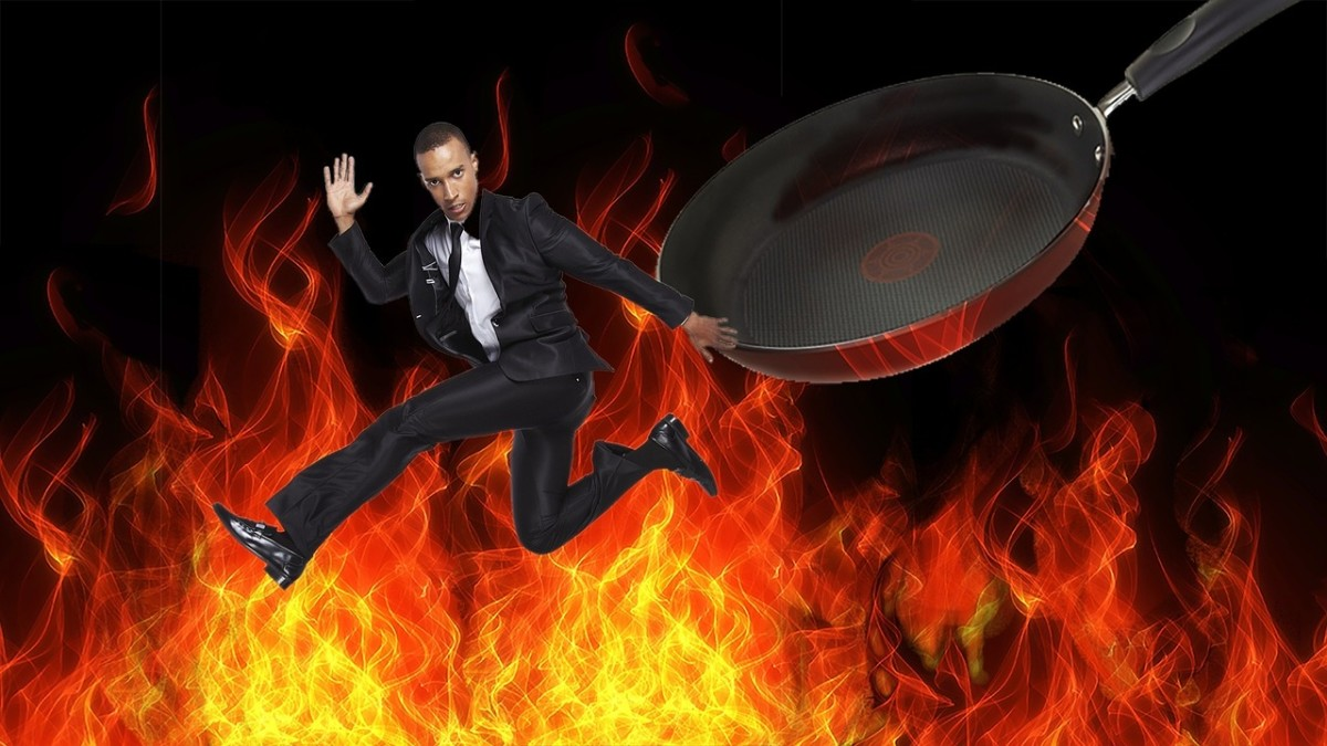Out of the Frying Pan: Image by Cari Dobbins from Pixabay