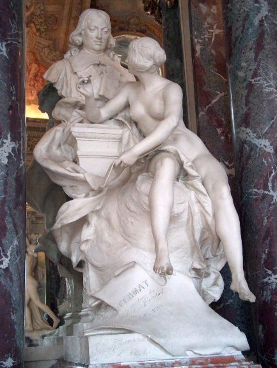 Bust of Pierre de Fermat in Toulouse (France)