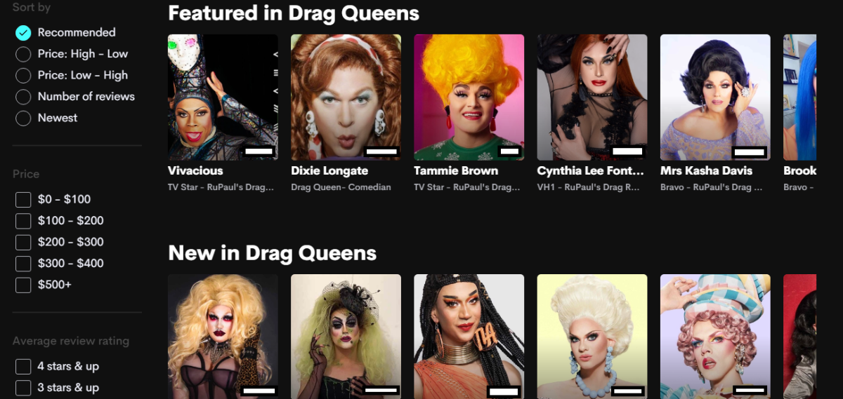 Popular Drag Race Queens on Cameo