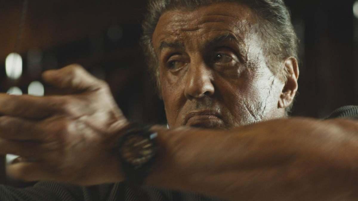 John Rambo shoots arrows at Hugo