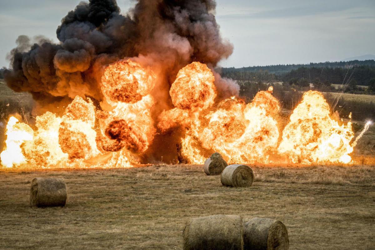 Huge explosion detonated by John Rambo