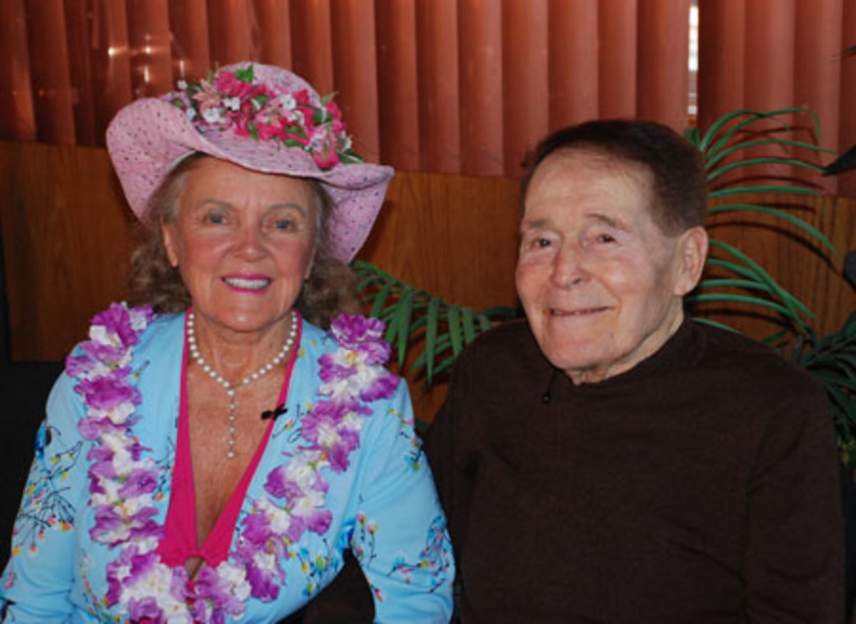 Paul Bragg's daughter Patricia Bragg with Jack LaLanne.