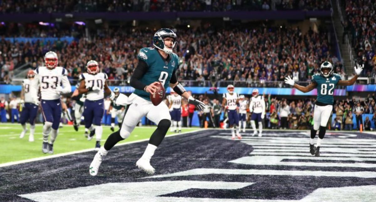 In Super Bowl 52 the Eagles threw a touchdown to QB Nick Foles to complete the Philly Special.